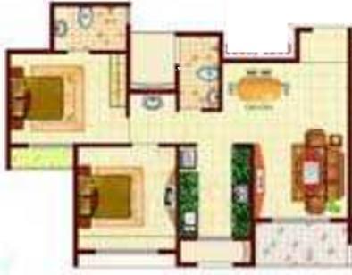 MP Balaji Aangan (2BHK+2T (1,161 sq ft) Apartment 1161 sq ft)