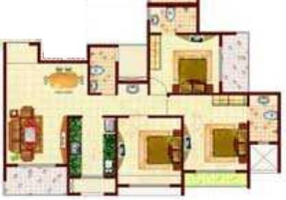 MP Balaji Aangan (3BHK+3T (1,512 sq ft) Apartment 1512 sq ft)