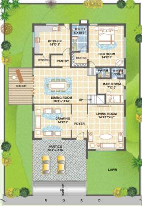 Meenakshi The Bamboos (4BHK+5T (4,350 sq ft)   Servant Room Villa 4350 sq ft)