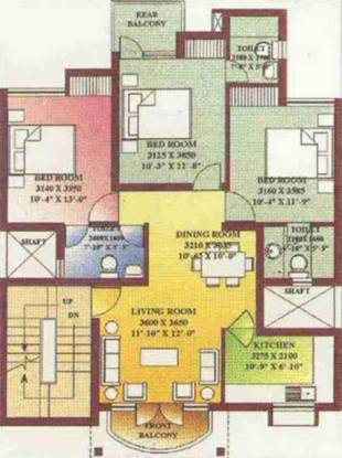 Ansal Royale Casa (3BHK+3T (1,171 sq ft) Apartment 1171 sq ft)