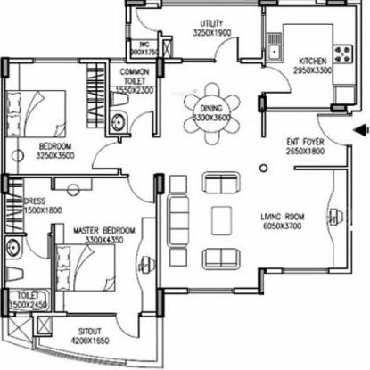 IDEB Riverspring (2BHK+2T (1,350 sq ft) Apartment 1350 sq ft)
