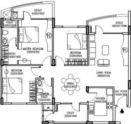 IDEB Riverspring (3BHK+2T (1,745 sq ft) Apartment 1745 sq ft)