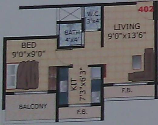 Payal Heights (1BHK+1T (670 sq ft) Apartment 670 sq ft)