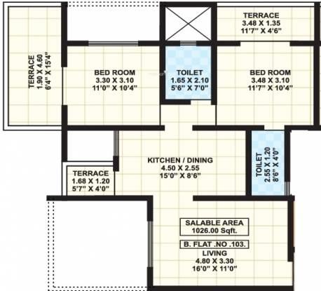 Shree Ganesh Sentosa Elysium (2BHK+2T (1,026 sq ft) Apartment 1026 sq ft)