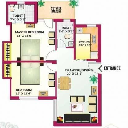 Celestial Celestial Palace (2BHK+2T (1,050 sq ft) Apartment 1050 sq ft)