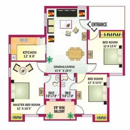 Celestial Celestial Palace (3BHK+2T (1,596 sq ft) Apartment 1596 sq ft)