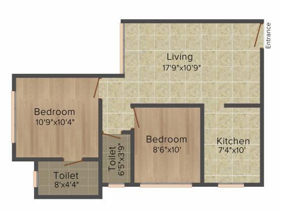 ACME Hills (2BHK+2T (944 sq ft) Apartment 944 sq ft)