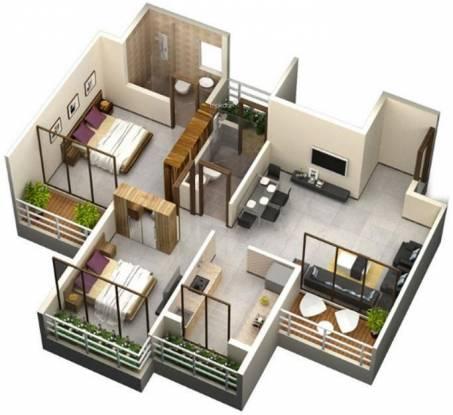 Sky Radhe Krishna (2BHK+2T (1,166 sq ft) Apartment 1166 sq ft)