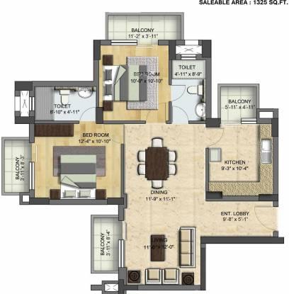 BPTP Park Grandeura (2BHK+2T (1,325 sq ft) Apartment 1325 sq ft)