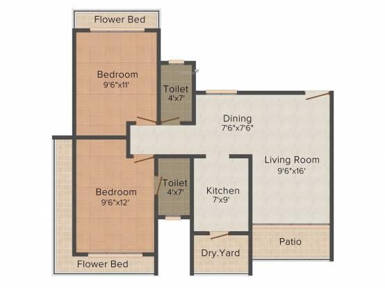 Raj Lifestyle (2BHK+2T (1,002 sq ft) Apartment 1002 sq ft)