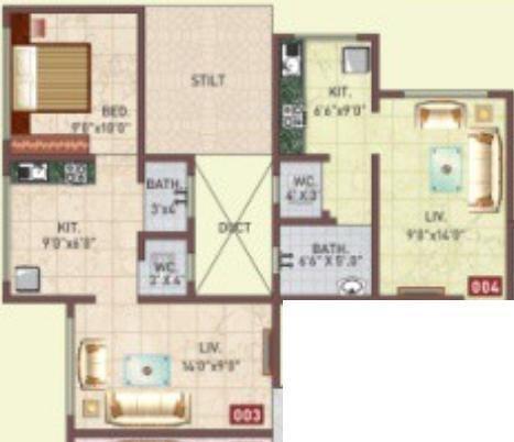 Panvelkar Vrindavan (1BHK+1T (605 sq ft) Apartment 605 sq ft)
