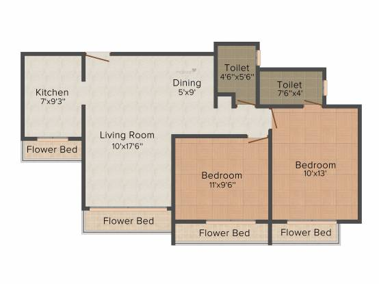 Dolphin Elite Residency (2BHK+2T (1,070 sq ft) Apartment 1070 sq ft)