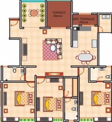 KBD Aurelia (3BHK+3T (1,600 sq ft) Apartment 1600 sq ft)