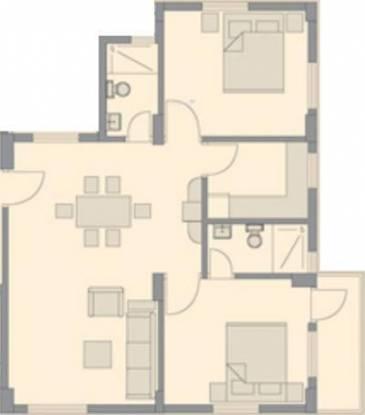 Bengal Peerless Anahita (2BHK+2T (875 sq ft) Apartment 875 sq ft)
