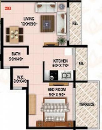 Today Sai Vrindavan (1BHK+1T (600 sq ft) Apartment 600 sq ft)