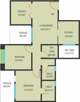 Essen Shonest Towers (2BHK+2T (913 sq ft) Apartment 913 sq ft)