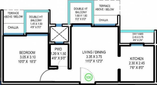 Lushlife Centro (1BHK+1T (635 sq ft) Apartment 635 sq ft)