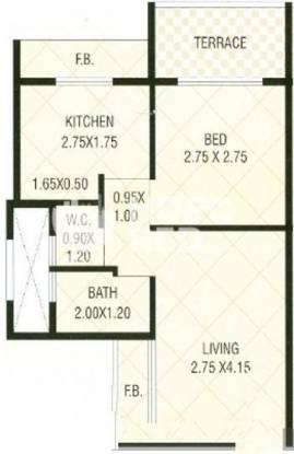 Seawood Classic (1BHK+1T (437 sq ft) Apartment 437 sq ft)