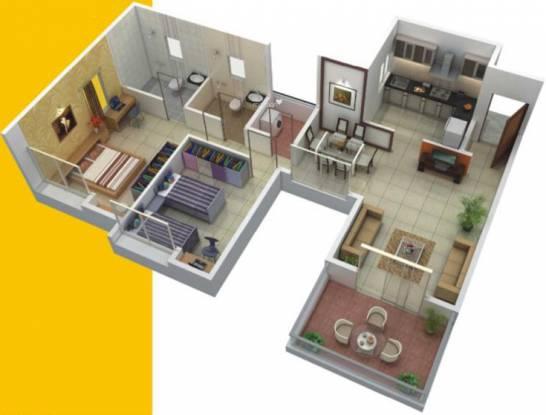 Gulmohar Parkview (2BHK+2T (1,153 sq ft) Apartment 1153 sq ft)