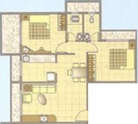 Monarch Meadows (2BHK+2T (1,050 sq ft) Apartment 1050 sq ft)