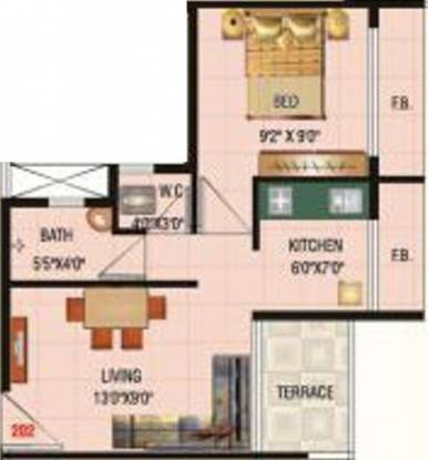 Shubh Dream Heritage (1BHK+1T (595 sq ft) Apartment 595 sq ft)