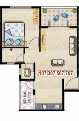 Goyal Shree Ganesh Residency (1BHK+1T (605 sq ft) Apartment 605 sq ft)