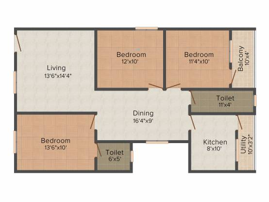 Amigo Sri Sai Icon (3BHK+2T (1,395 sq ft) Apartment 1395 sq ft)