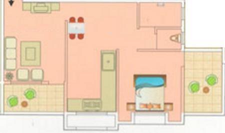 Aryavedant Residency (1BHK+1T (641 sq ft) Apartment 641 sq ft)