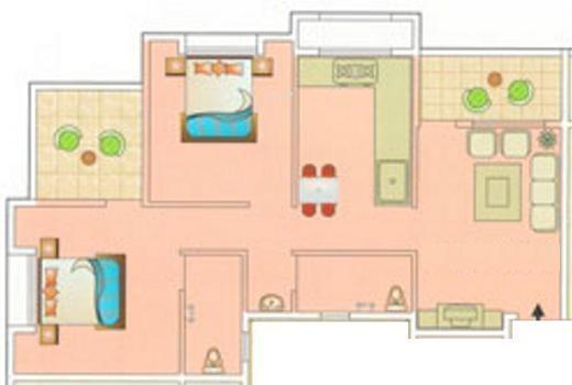 Aryavedant Residency (2BHK+2T (895 sq ft) Apartment 895 sq ft)