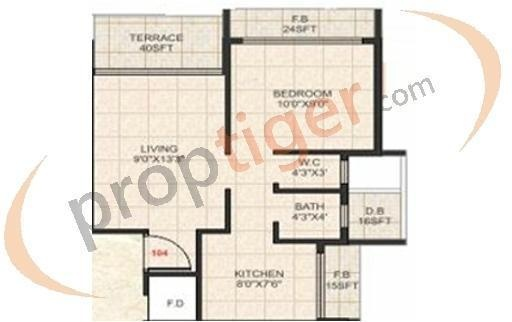 SM SM Majestic (1BHK+1T (680 sq ft) Apartment 680 sq ft)