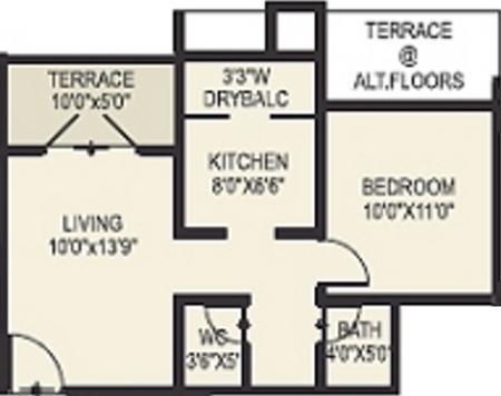 DNV Elite Homes (1BHK+1T (638 sq ft) Apartment 638 sq ft)