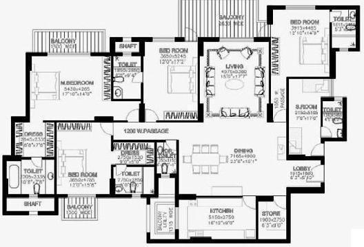 DLF The Summit (4BHK+4T (3,500 sq ft) + Servant Room Apartment 3500 sq ft)