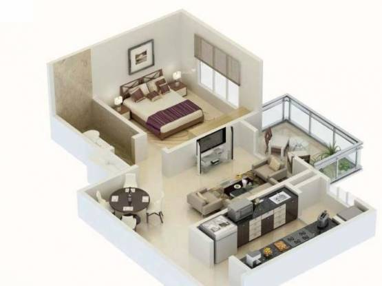 Karia Konark Meadows (1BHK+1T (801 sq ft) Apartment 801 sq ft)