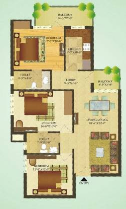 Sare Green Parc (3BHK+2T (1,180 sq ft) Apartment 1180 sq ft)