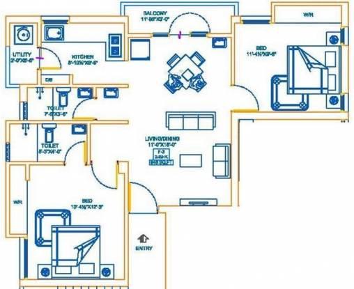 AP Aarudhra (2BHK+2T (945 sq ft) Apartment 945 sq ft)