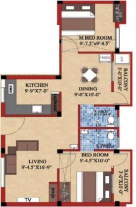 Shree Shree Guru Flats (2BHK+2T (902 sq ft)   Pooja Room Apartment 902 sq ft)
