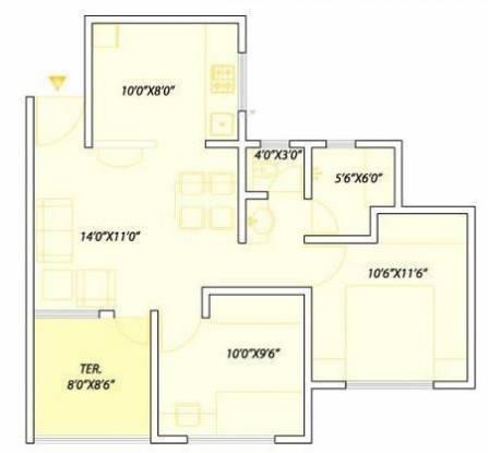 Pate Golden Petals (2BHK+2T (1,081 sq ft) Apartment 1081 sq ft)