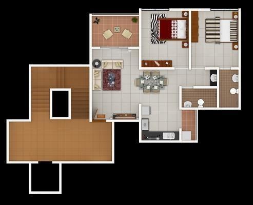Shiv Vihar (2BHK+2T (770 sq ft) Apartment 770 sq ft)