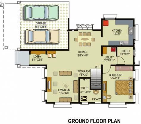 Paranjape Vasant Vihar (3BHK+4T (3,249 sq ft)   Pooja Room Villa 3249 sq ft)