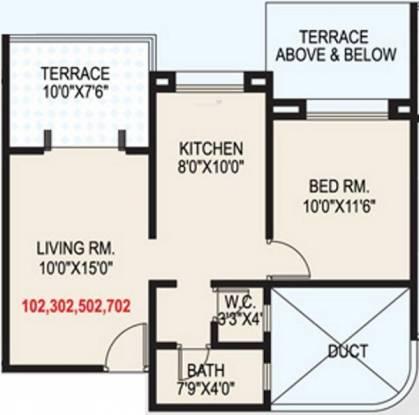 GK Shiv Sai Vishwa (1BHK+1T (630 sq ft) Apartment 630 sq ft)