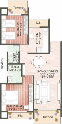 Keystone Vista (2BHK+2T (1,170 sq ft) Apartment 1170 sq ft)