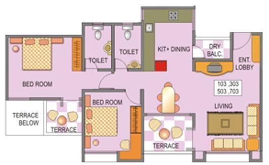 Venkateshwara Silver Moon (2BHK+2T (1,169 sq ft) Apartment 1169 sq ft)