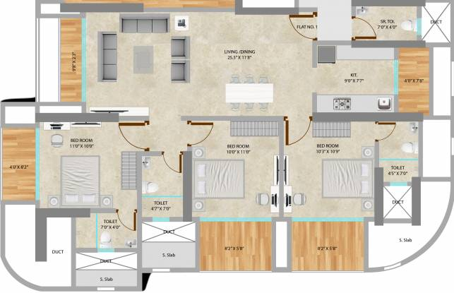 Neumec Chandelier Court (3BHK+3T (2,121 sq ft) Apartment 2121 sq ft)
