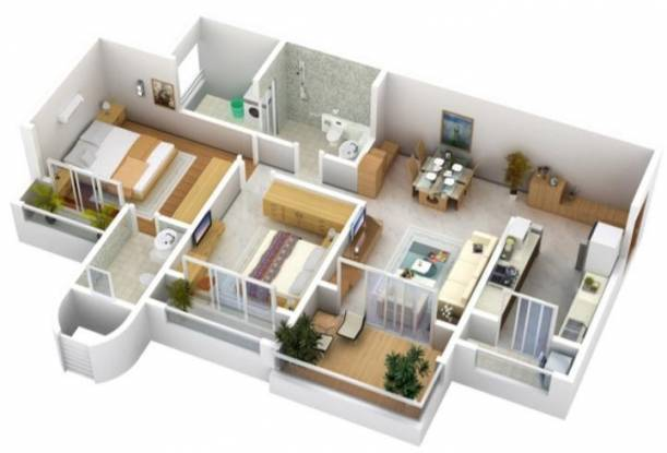 Mohan Altezza (2BHK+2T (1,295 sq ft) Apartment 1295 sq ft)