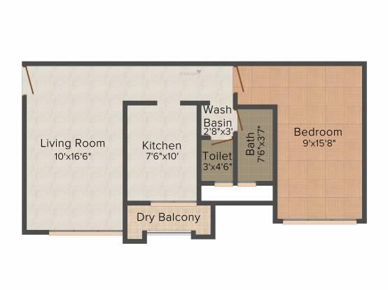 SD Ekta Suprabhat (1BHK+1T (750 sq ft) Apartment 750 sq ft)