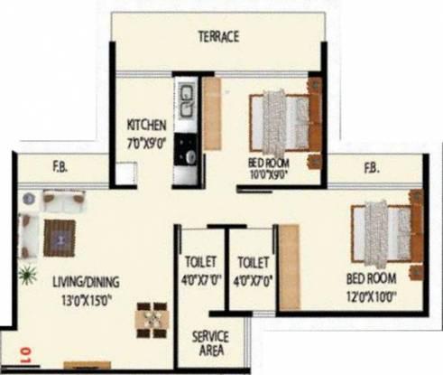 Today Grande Vista (2BHK+2T (1,050 sq ft) Apartment 1050 sq ft)