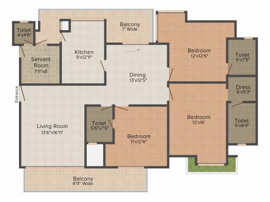 Krrish Ibiza Town (3BHK+3T (2,390 sq ft) Apartment 2390 sq ft)