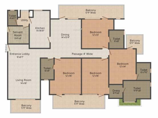 Krrish Ibiza Town (4BHK+4T (3,500 sq ft) Apartment 3500 sq ft)