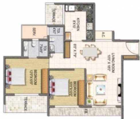 Keystone Elita (2BHK+2T (1,100 sq ft) Apartment 1100 sq ft)
