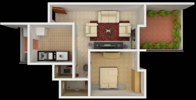 Vastushree Adrina (1BHK+1T (704 sq ft) Apartment 704 sq ft)